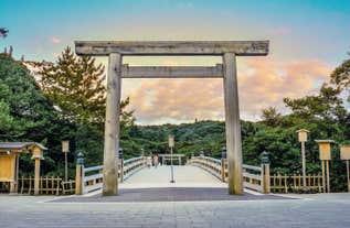 [名古屋発]日本最高位の神社「伊勢神宮」を外宮から内宮参拝&シンボル夫婦岩へ縁結び&お食事は『海鮮陶板焼』卓上でふたを開けた時海の幸の香りをお楽しみ日帰りツアー